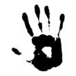 black hand print