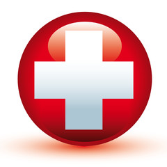 Switzerland Flag Vector Aqua