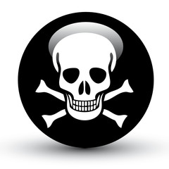 Pirate Flag Death Ball 3D Vector