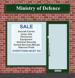 Sale at the Ministry of Defense due to budget cuts