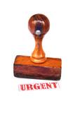 Stamp urgent poster