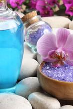 sel et orchidée