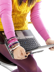 Young Woman Using Laptop. Model Released