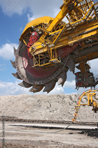 detail of big excavator in coal mine in europe - 26865672