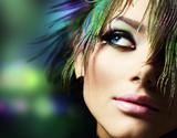 Fototapety Beautiful Fashion Woman Face.Perfect Makeup