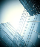 glass building perspective view poster