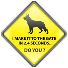 BEWARE OF THE DOG SIGN (joke humour funny original gag warning)