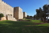 Walls of ancient Jerusalem. Serene day, a sunset