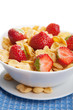 cereal with strawberry isolated