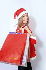 shopping santa claus woman.