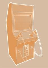 Vector rendering of an arcade shooter.