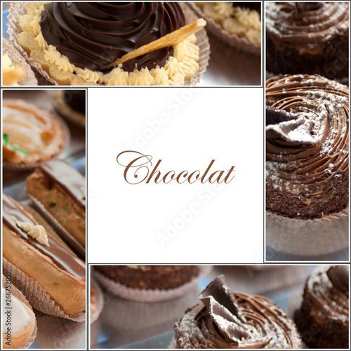 Papiers peints Boulangerie gâteaux au chocolat