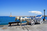 Fototapety Traditional greek horse car in Chania city