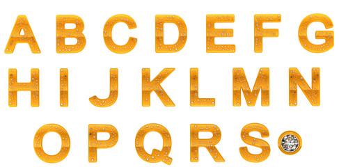 Golden Diamond A-S letters