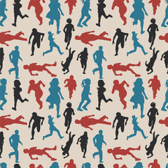 people run seamless pattern