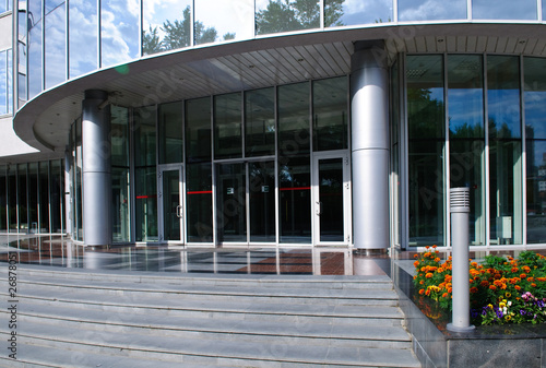 Entrance to office building