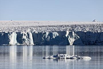 Arctic glacier front in Spitzbergen, Svalbard