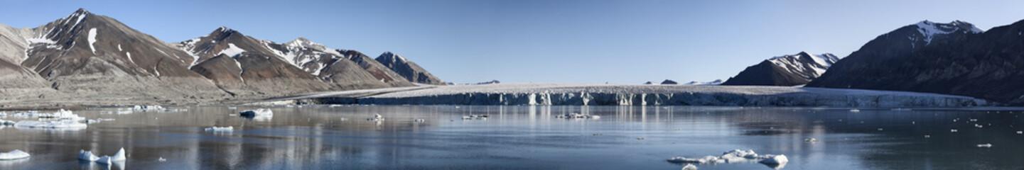 Josephbukta glacier panoramic