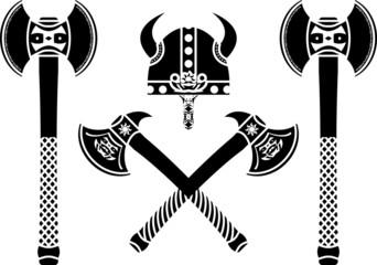 set of fantasy axes