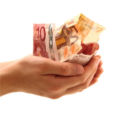 banconote in mano