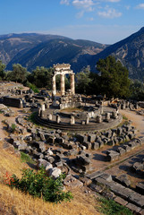 Athena Pronaia Sanctuary at Delphi, Greeece