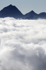 sea of clouds in Pyrenees