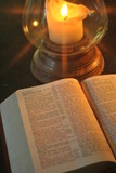 Candlelit bible study romantic