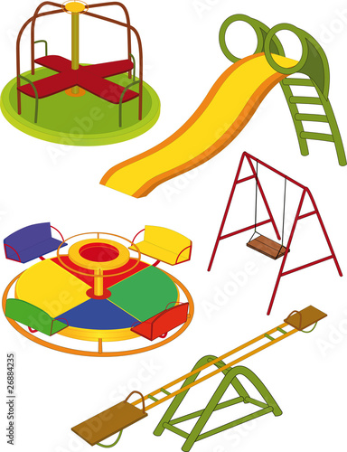 The complete set a children's swing