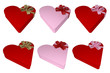 giftbox heart shape