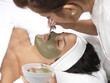 Young Woman Having Facial. Models Released