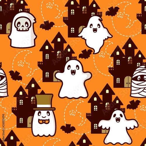 Materiał do szycia Halloween Castle Ghost