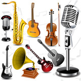 Fototapety Vector musical instruments