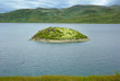 Picturesque Norway landscape with island.