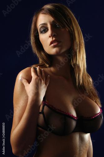 Leinwanddruck Bild erotischer Blick