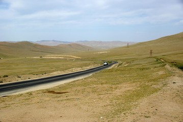 Route, Mongolie