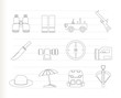 safari, hunting and holiday icons - vector icon set