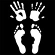 Hands and feet print, Vector images scale to any size
