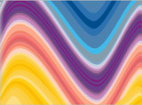 Colorful glowing  lines abstract graphic design illustration, ve poster