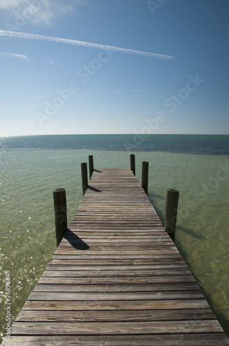 Wooden pier at the beach