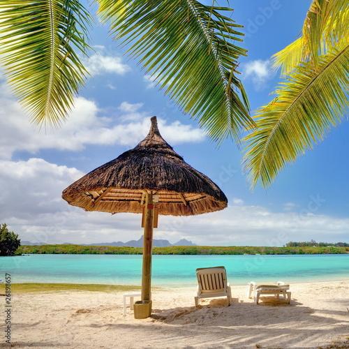 Lagon paradisiaque de l'île Maurice.