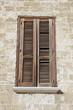 Wooden shutter.