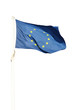 Bandiera europea isolata su sfondo bianco