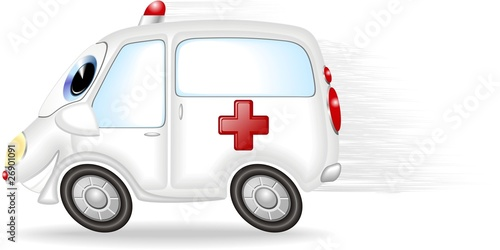 Auto Ambulanza Cartoon-Ambulance-Vector