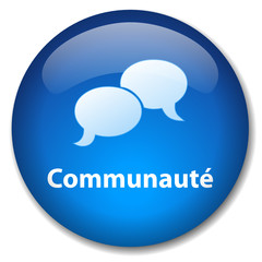 Bouton COMMUNAUTE (forum groupes contacts partage discussion )