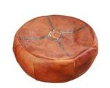 vintage circle ottoman hassock isolated.. poster