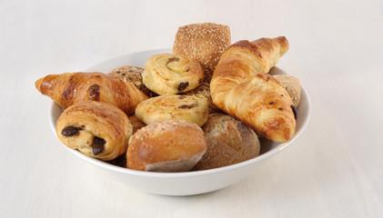 bowl full of pastries