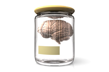 Brain in a glass pot