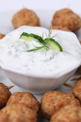 Tzatziki with kebab