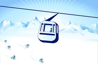 Seilbahn und Wintersport
