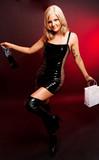 Frau in Latex poster